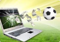 ordinateur écran cassé dollars billets ballon football