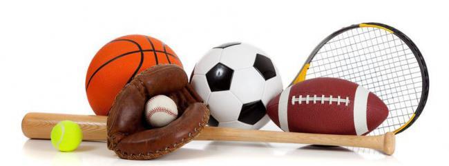 ballons balle batte gant raquette football tennis baseball basketball